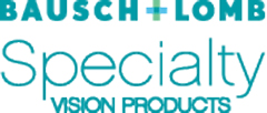 bauch and lomb logo with teal text