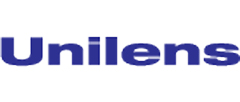 Unilens logo with blue text